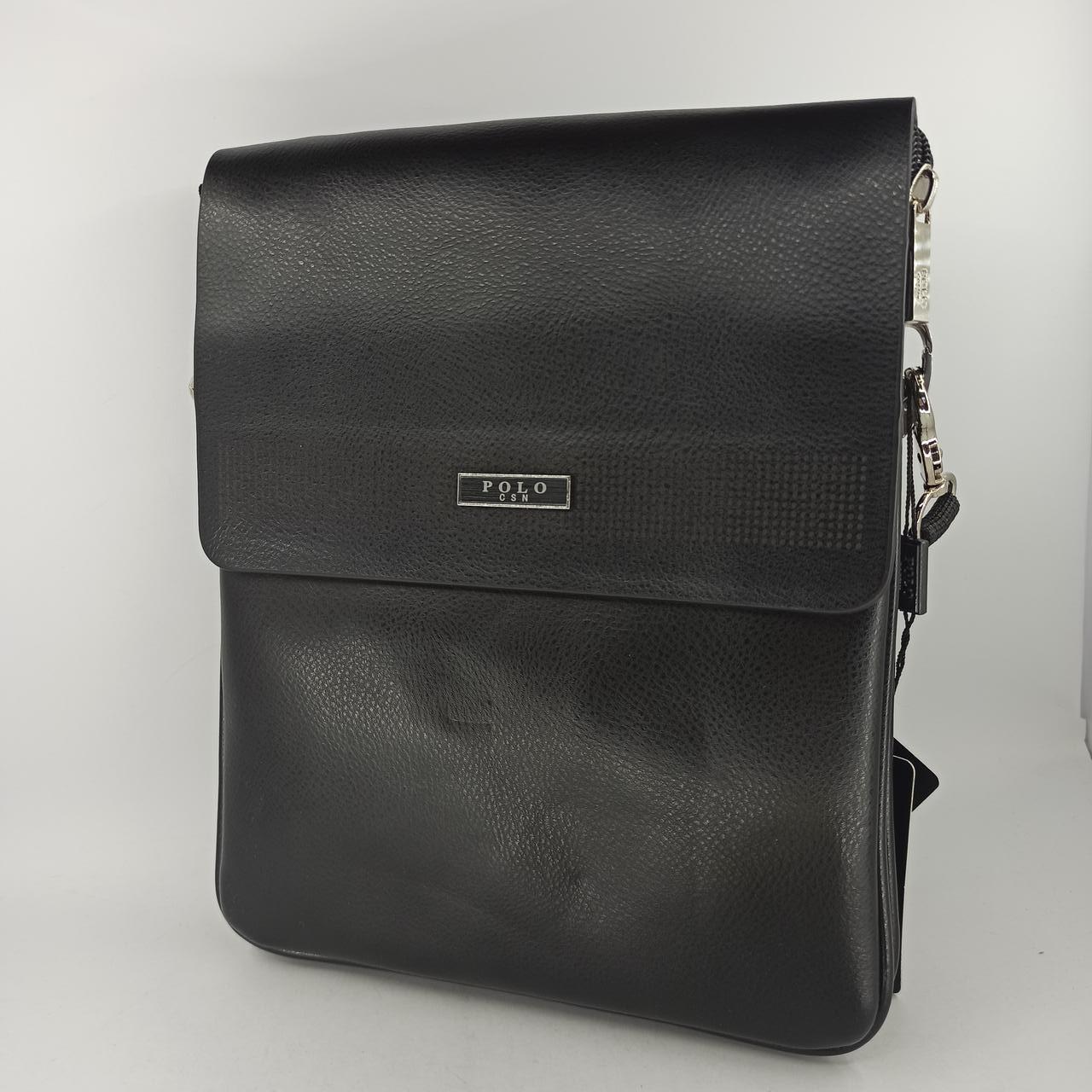 Мужская кожаная сумка планшет через плечо Polo B6779-3