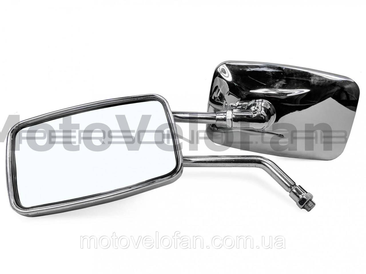 Зеркала мото   (прямоугольные)   (МТ)   (хром, 10mm)   EVO