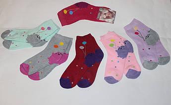 Детские махровые носки Котик с шариками Размер 35 - 38