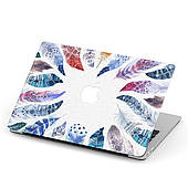 Чехол пластиковый для Apple MacBook Pro / Air Перья (Feathers) макбук про case hard cover