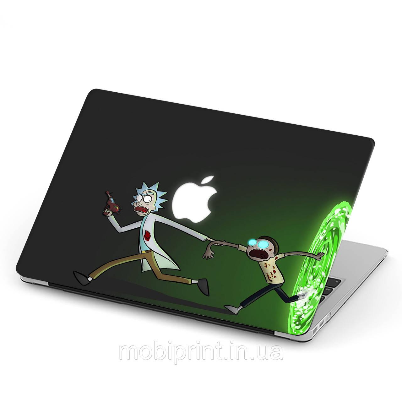Чехол пластиковый для Apple MacBook Pro / Air Рик и Морти (Rick and Morty) макбук про case hard cover