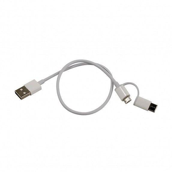 Кабель USB Xiaomi Mi 2-in-1 USB Cable (Micro USB to Type C) 30cm (SJV4083TY)