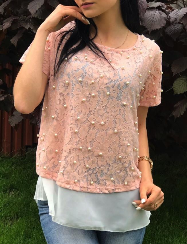 Блуза женская Pepper mint SS19 размер M персиковая