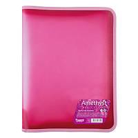 Папка объемная на молнии А4+, Magic Stones, розовый