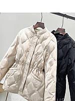 Модный пуховик в модном стиле, женская тонкая и модная куртка с кулиской, фото 1
