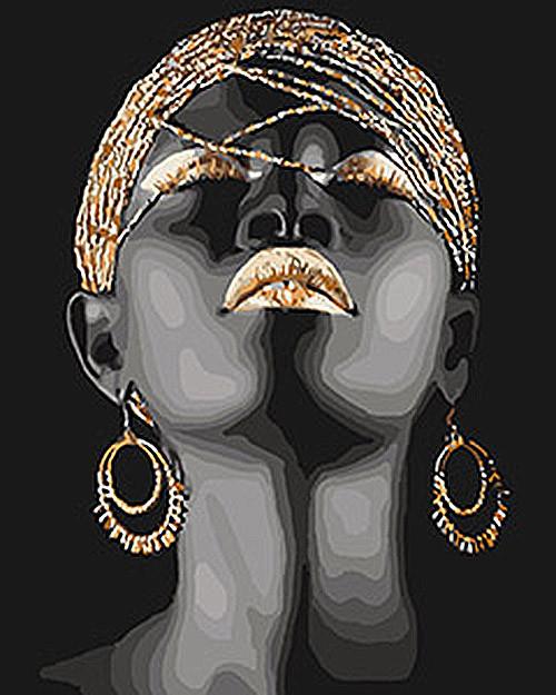 "Картина по номерам Идейка ""Африканская принцесса"" 40х50см KHO4559"