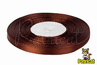 Лента атласная коричневая 0,6 см длина 33 м бобина