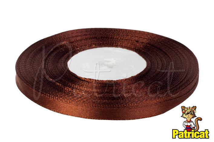 Лента атласная коричневая 0,6 см длина 1 м