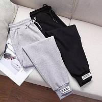 Женские спортивные штаны, двунитка. Цвет: черные, серые. Размер: 42-44, 46-48
