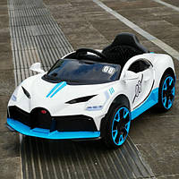 """Детский электромобиль Tilly """"Bugatti"""" музыкальный T-7657 EVA WHITE с пультом управления 122*70*50"""