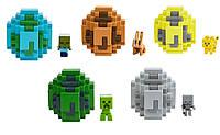 Яйцо призывания с мини-фигуркой моба Minecraft (Майнкрафт) в асс.