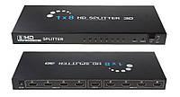 HDMI 1 вход 8 выходов сплиттер, разветвитель, коммутатор, HD, 3D, фото 1