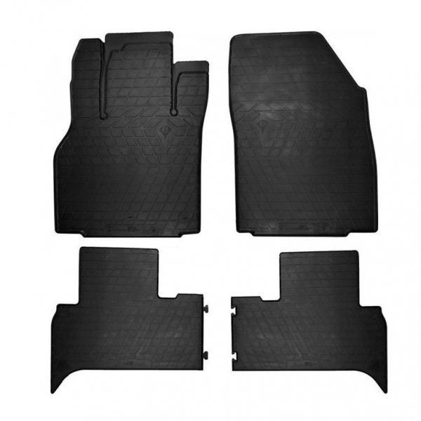 Комплект резиновых ковриков Stingray в салон автомобиля Renault Scenic III 2009- (1018214) / Автоковрики в салон Стингрей для Рено