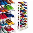 Органайзер, полка для обуви Amazing Shoe Rack металлическая на 30 пар, фото 6
