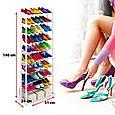 Органайзер, полка для обуви Amazing Shoe Rack металлическая на 30 пар, фото 7