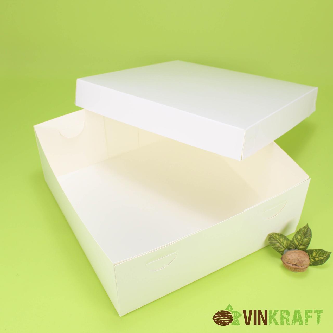 Коробка 270*270*105 для торта, біла