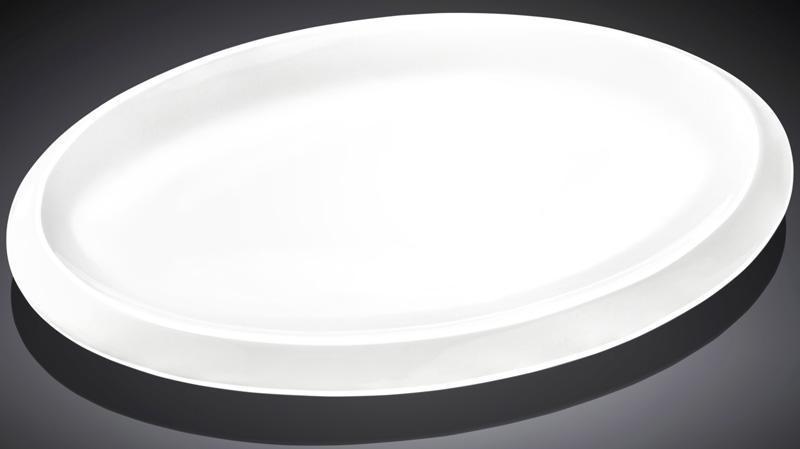 Набор 3 овальных блюда Wilmax Teona 41см, фарфор