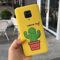 Чехол Style для Xiaomi Redmi Note 9S силиконовый бампер Желтый Cactus