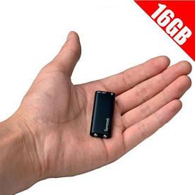 Мініатюрний диктофон Savetek 200 з активацією голосом 16 ГБ Чорний (100537)