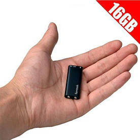 Миниатюрный диктофон Savetek 200 с активацией голосом 16 ГБ Черный (100537)