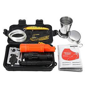 Похідний набір для виживання в екстремальних умовах Outad AK-16 16 предметів (100137)