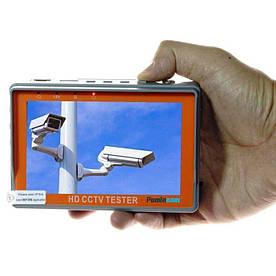 Видеотестер - портативный монитор для настройки видеокамер Pomiacam IV5, AHD TVI CVI CVBS 8 Мп (100126)