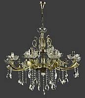 Классическая люстра-свеча на 15 лампочек античная бронза IS-4134/10+5/AB