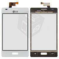 Touchscreen (сенсорный экран) для LG Optimus L5 E610/E612/E615, оригинал (белый)