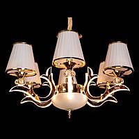 Современная классическая люстра на 6 лампочек с LED подсветкой рожков D-9430/6