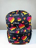 Молодіжний рюкзак міський шкільний з принтом Likee чорний