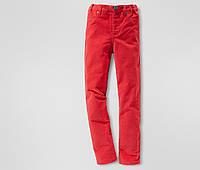 Детские Вельветовые брюки Tchibo для девочки (красные)