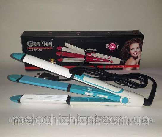 Стайлер для волос Gemei GM 2921 3в1- Новинка