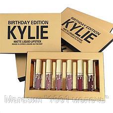 Набор матовых помад Kylie Birthday Edition 6шт, фото 3