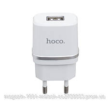 СЗУ адаптер 220V HOCO C11 1USB + кабель Micro 1A, фото 3