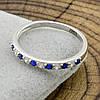Серебряное кольцо ТС510168 вставка синие фианиты вес 1.2 г размер 15.5, фото 3