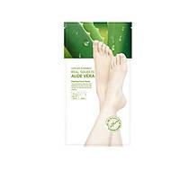 Увлажняющая маска для ног с алоэ, Nature Republic, Real Squeeze Aloe Vera Peeling Foot Mask