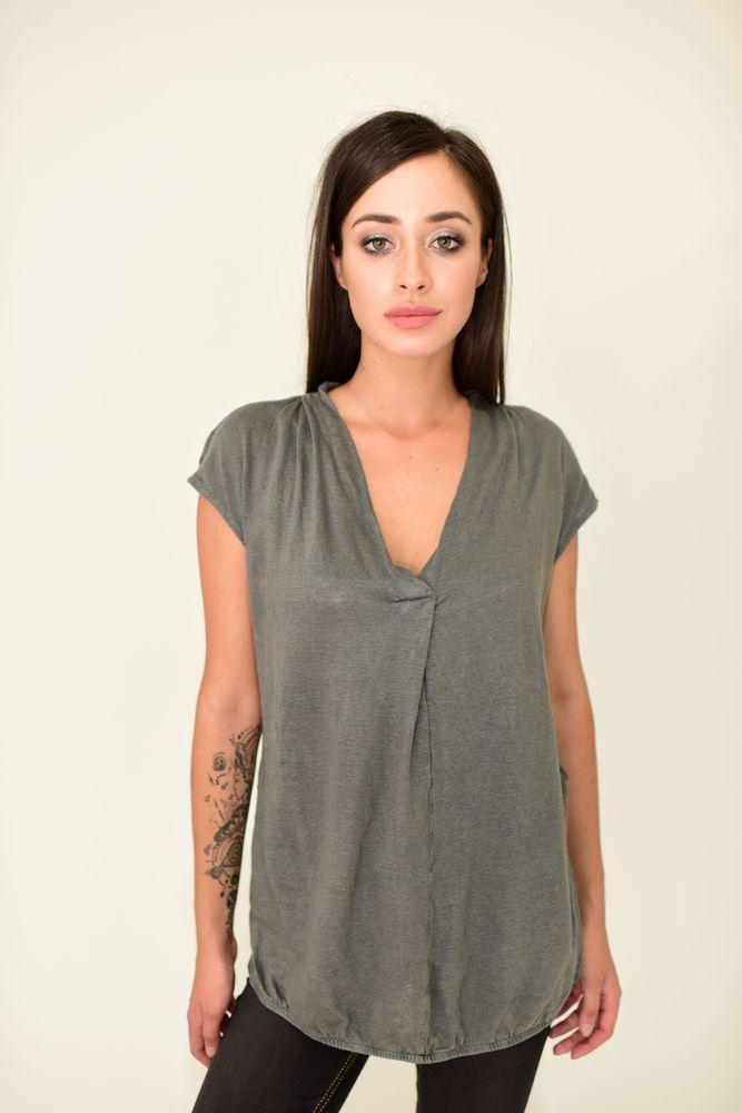 Блуза женская 516F480 цвет Темно-серый