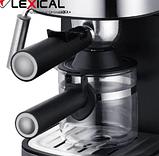 Кавоварка Espresso Lexical LEM-0601 з капучинатором, фото 3