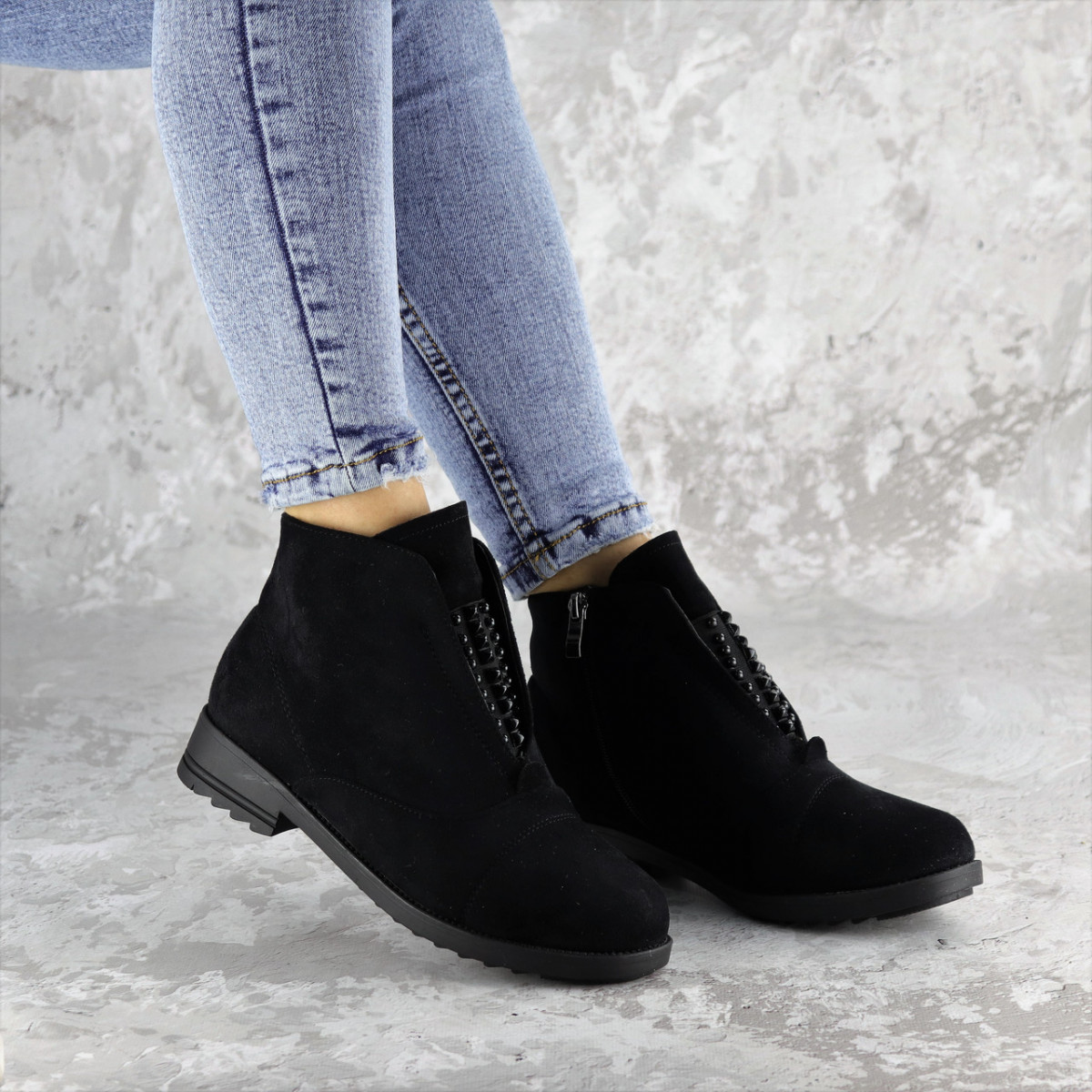 Ботинки женские зимние черные Fobar 2273 (38 размер)