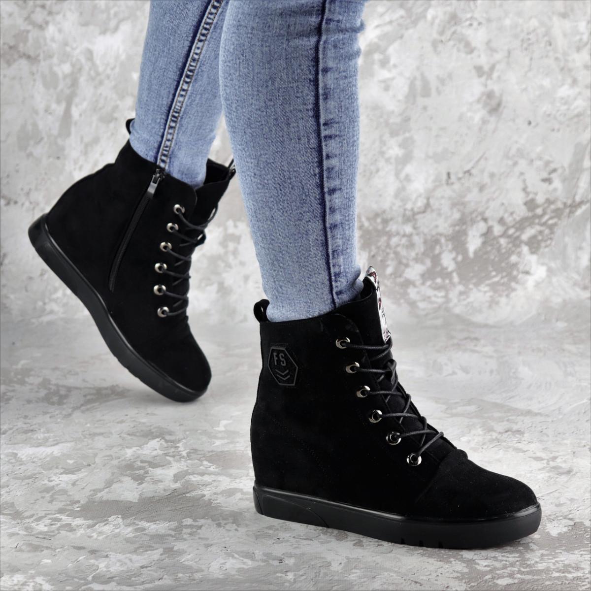 Ботинки женские зимние черные Jimbo 2299 (37 размер)