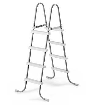 Лестница Intex 28066 для бассейнов серого цвета высота 122 см (int_28066)