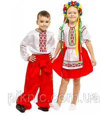 Детский костюм Украинка для девочек 4,5,6,7,8 лет Национальный карнавальный Украиночка 343, фото 3