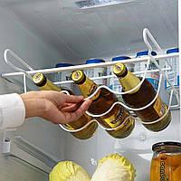 Полка подвесная для бутылок 3 шт. в холодильник универсальная, держатель бутылок 0,5-1,5 л