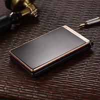 Телефон-раскладушка TKEXUN T12 (черно-медный), фото 1