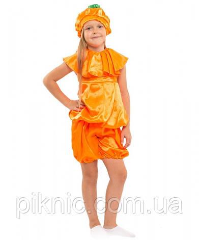 Детский костюм Тыква для детей 4,5,6,7 лет. Костюм фрукты Гарбуз Апельсин мальчик девочка 340, фото 2