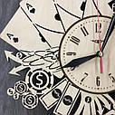 Стильные деревянные настенные часы Лас-Вегас бесшумные - подарок мужчине, фото 4