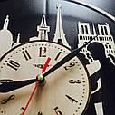 Інтер'єрні дерев'яні годинники настінні Романтика Парижа, фото 2