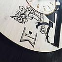 Інтер'єрні дерев'яні годинники настінні Романтика Парижа, фото 3