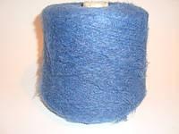 Мохер, синий цвет, Италия, вес 0.950