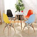 Стілець на дерев'яних ніжках з пластиковим сидінням Nik XXL для барів, кафе, ресторанів, стильних квартир, фото 3